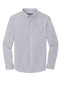 Port Authority ® Broadcloth Gingham Easy Care Shirt-Gusty Grey/ White
