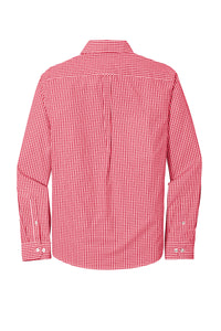 Port Authority ® Broadcloth Gingham Easy Care Shirt-Rich Red/ White