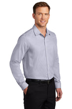 Port Authority ® Pincheck Easy Care Shirt-Gusty Grey/ White