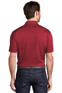 Port Authority ® Stretch Heather Polo-RED