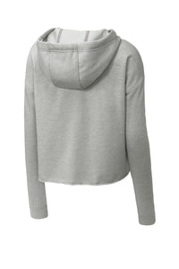 Sport-Tek Ladies PosiCharge Tri-Blend Wicking Fleece Crop Hooded Pullover