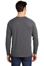 Sport-Tek ® PosiCharge ® Long Sleeve Tri-Blend Wicking Raglan Tee-DARK GREY HEATHER