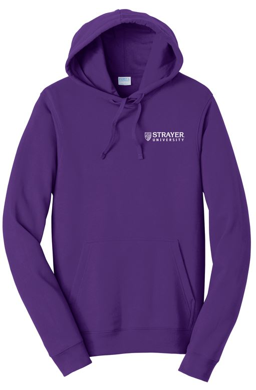 UNISEX Port & Company® Fan Favorite™ Fleece Pullover Hooded Sweatshirt-PURPLE