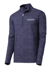 MEN'S Sport-Tek ® Sport-Wick ® Stretch Reflective Heather 1/2-Zip Pullover-TRUE NAVY