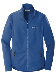 LADIES Port Authority ® Collective Smooth Fleece Jacket-NIGHT SKY BLUE
