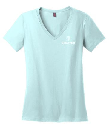 District ® Women's Perfect Weight ® V-Neck Tee-SeaGlass Blue