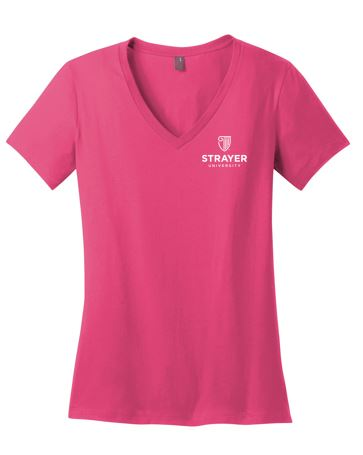 District ® Women's Perfect Weight ® V-Neck Tee-Dark Fuchsia