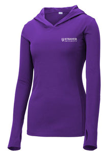 LADIES Sport-Tek ® PosiCharge ® Competitor ™ Hooded Pullover-PURPLE