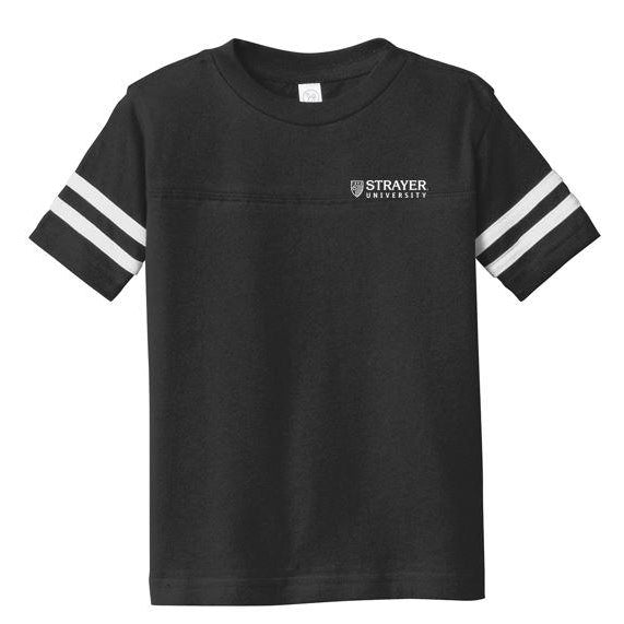 Rabbit Skins™ Toddler Football Fine Jersey Tee BLACK