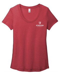 District ® Women's Flex Scoop Neck Tee-Heathered Red