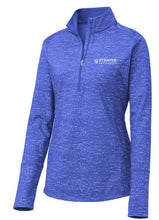 LADIES Sport-Tek ® Sport-Wick ® Stretch Reflective Heather 1/2-Zip Pullover-TRUE ROYAL