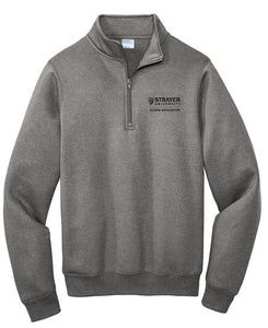 Port & Company ® Core Fleece 1/4-Zip Pullover Sweatshirt - Graphite Heather