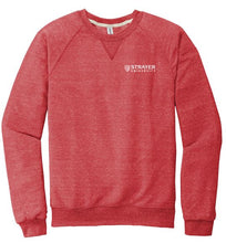 JERZEES ® Snow Heather French Terry Raglan Crew-RED