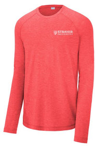 Sport-Tek ® PosiCharge ® Long Sleeve Tri-Blend Wicking Raglan Tee-RED