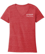 HONORS JERZEES ® Ladies Snow Heather Jersey V-Neck T-Shirt - RED