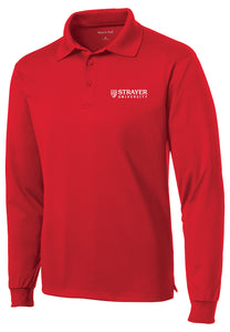 Sport-Tek Long Sleeve Micropique Sport-Wick Polo - Red
