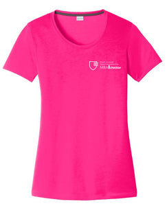 MBA CHEDDAR - Sport-Tek Ladies PosiCharge Competitor Cotton Touch Scoop Neck Tee - Neon Pink