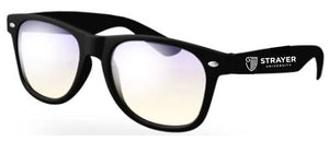 STRAYER Blue Light Blocking Retro Glasses - Black