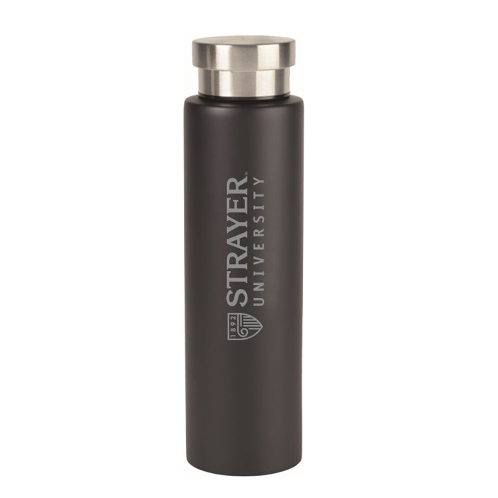 Napa Double Wall Stainless Water Canteen - 25 Oz. Black
