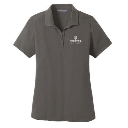 Port Authority® Ladies SuperPro™ Knit Polo GRAY