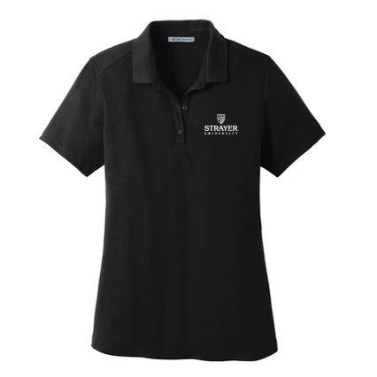 Port Authority® Ladies SuperPro™ Knit Polo BLACK
