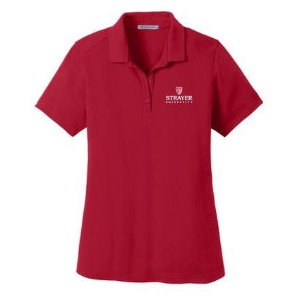 Port Authority® Ladies SuperPro™ Knit Polo RED