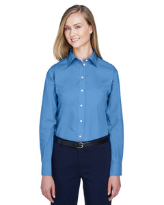 Devon & Jones Ladies' Crown Woven Collection™ Solid Broadcloth-FRENCH BLUE