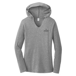 Ladies Perfect Tri® Long Sleeve Hoodie Grey Frost