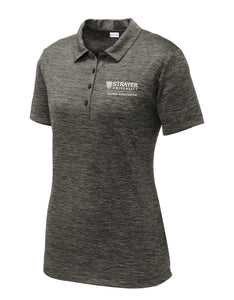 Alumni Ladies Electric Heather Polo GRAY BLACK