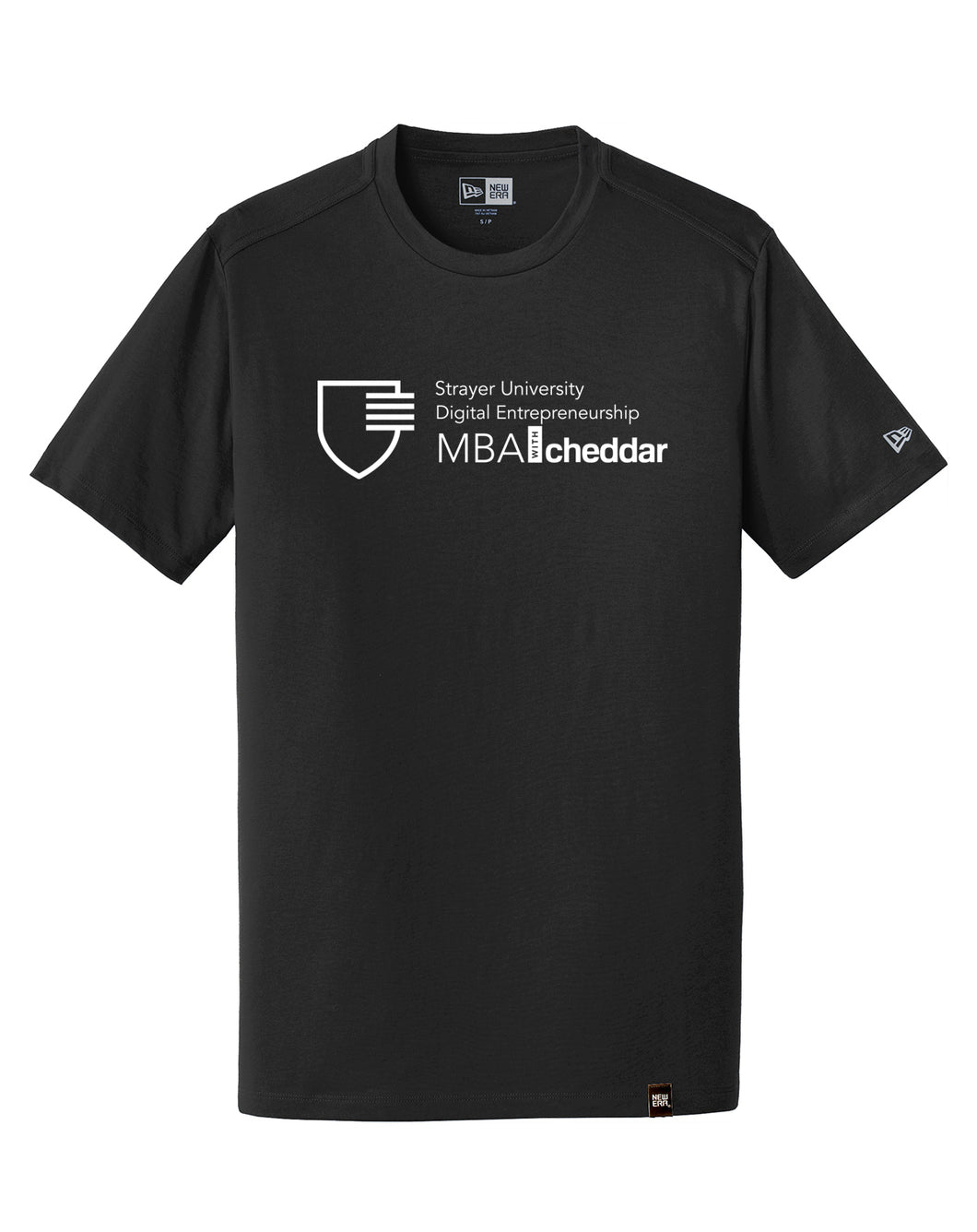 MBA CHEDDAR - New Era Heritage Blend Crew Tee - Black