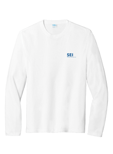 SEI - Port & Company Long Sleeve Fan Favorite Blend Tee - White