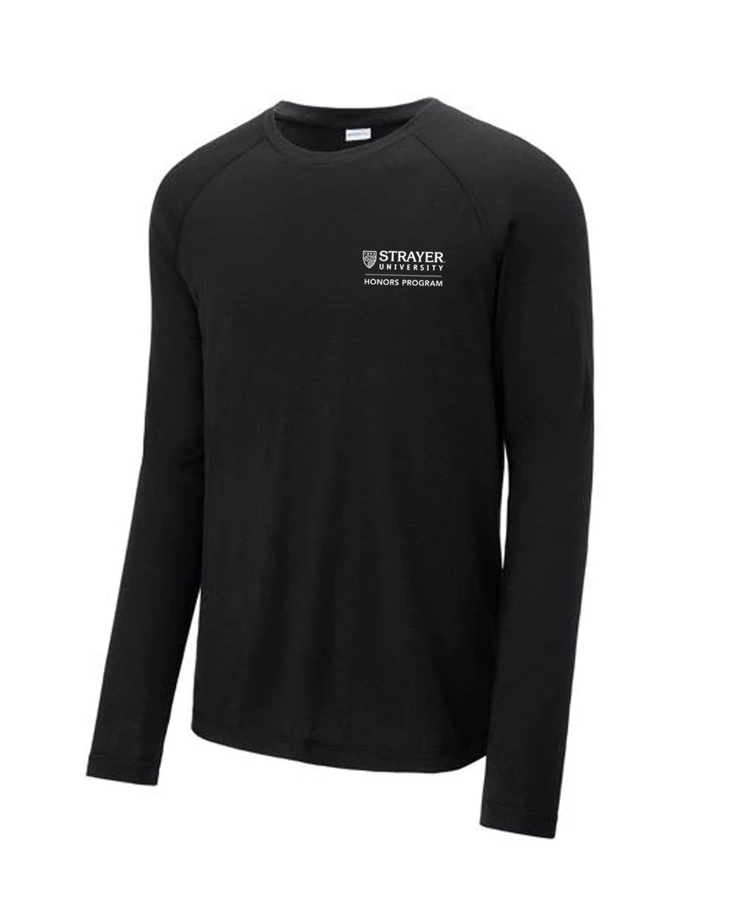 HONORS Sport-Tek ® PosiCharge ® Long Sleeve Tri-Blend Wicking Raglan Tee-BLACK
