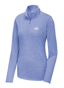 SEI - Sport-Tek Ladies PosiCharge Tri-Blend Wicking 1/4-Zip Pullover - True Royal Heather