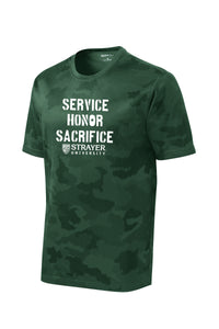 Service Honor Sacrifice - Sport-Tek CamoHex Tee - Forest Green