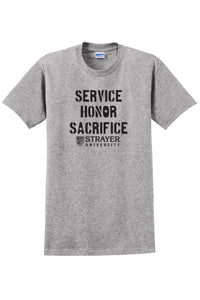 Service Honor Sacrifice - Ultra Cotton 100% Cotton T-Shirt - Sport Grey