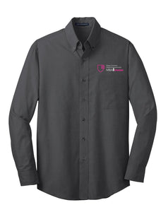 MBA CHEDDAR - Port Authority Crosshatch Easy Care Shirt - Soft Black