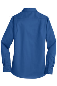 SEI - Port Authority Ladies SuperPro Twill Shirt - True Blue