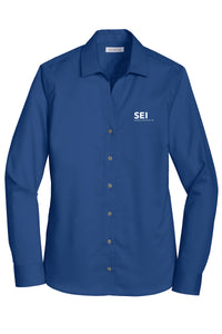 SEI - Red House Ladies Non-Iron Twill Shirt - Blue Horizon