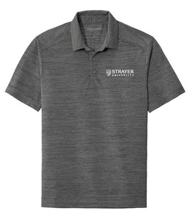Port Authority ® Stretch Heather Polo-BLACK-THUNDER GREY