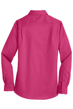 MBA CHEDDAR - Port Authority Ladies SuperPro Twill Shirt - Pink Azalea