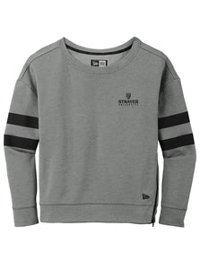 New Era Ladies Tri-Blend Fleece Varsity Crew