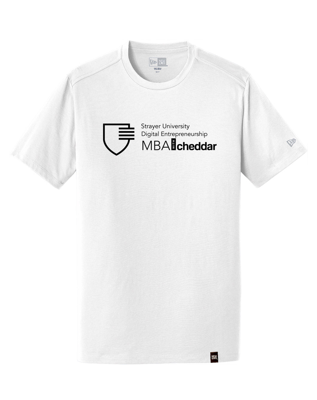 MBA CHEDDAR - New Era Heritage Blend Crew Tee - White