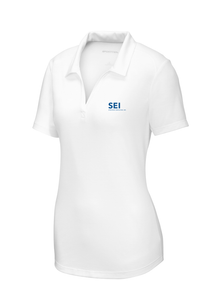 SEI - Sport-Tek Ladies PosiCharge Tri-Blend Wicking Polo - White
