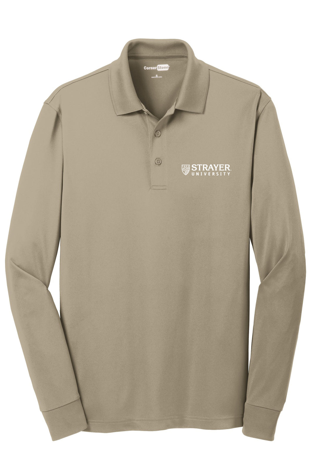 CornerStone Select Snag-Proof Long Sleeve Polo - Tan