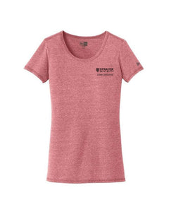ALUMNI Ladies Tri-Blend Performance Scoop Tee CRIMSON