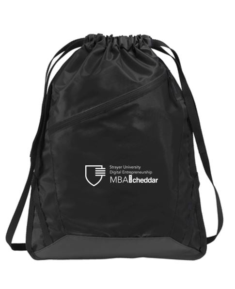 MBA CHEDDAR - Port Authority Zip-It Cinch Pack Black/Black