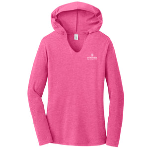 Ladies Perfect Tri® Long Sleeve Hoodie Fuchsia Frost