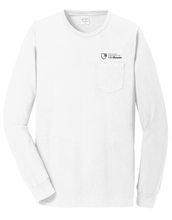 MBA CHEDDAR - Pigment-Dyed Long Sleeve Pocket Tee - White