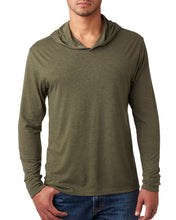Next Level Adult Triblend Long-Sleeve Hoody-MILITARY GREEN