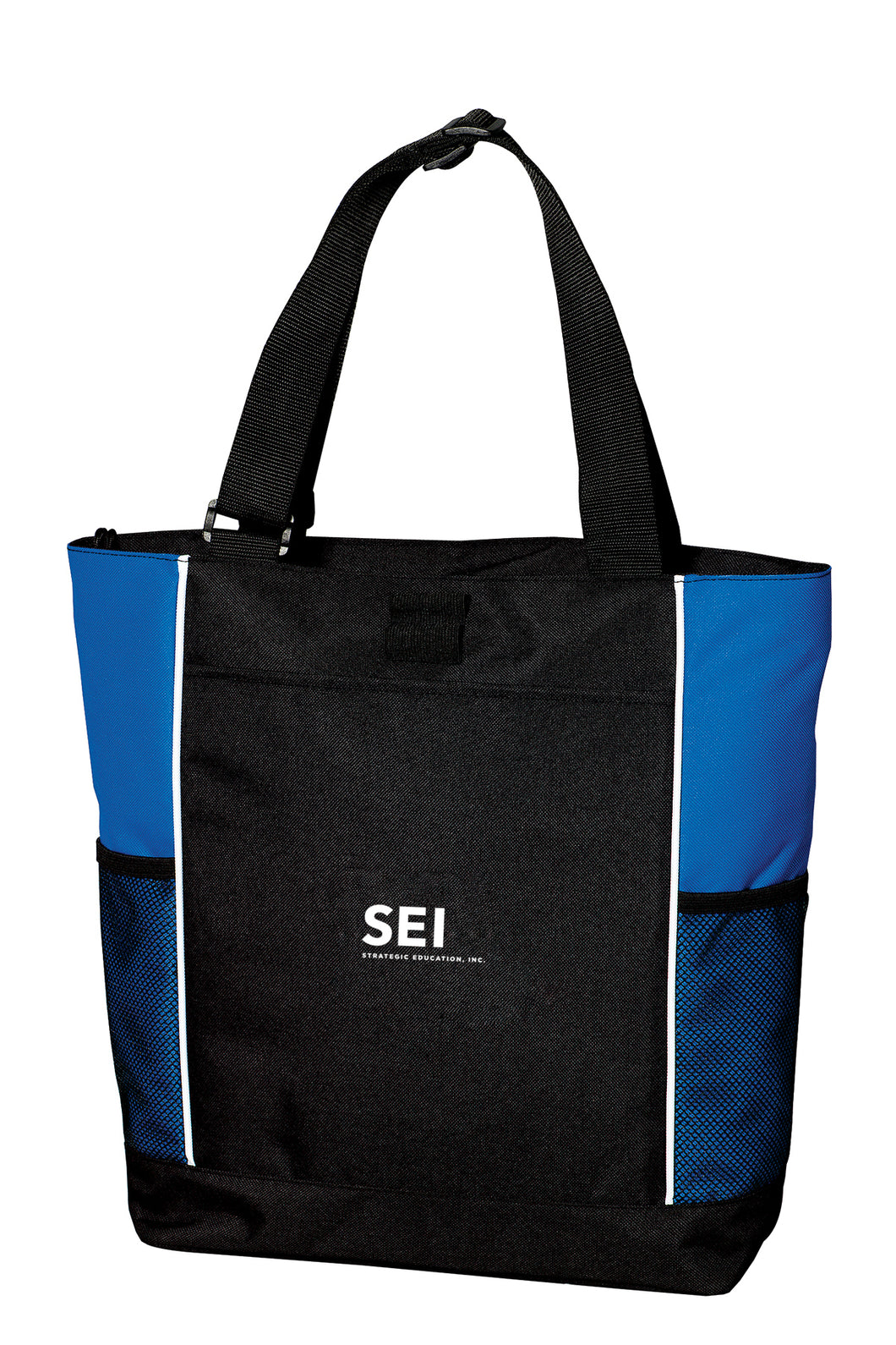 SEI -Port Authority Panel Tote - Black/Royal